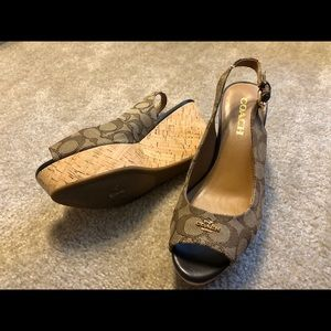 Coach Shoes - New Coach Wedges Slingbacks
